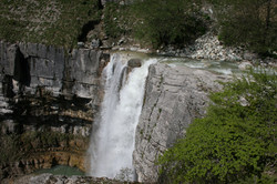 Second Waterfall of Kinchkha near Okatse Canyon