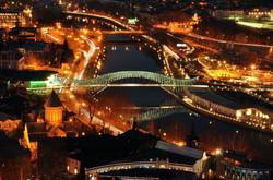 Bridge of Peace at Night, Tbilisi