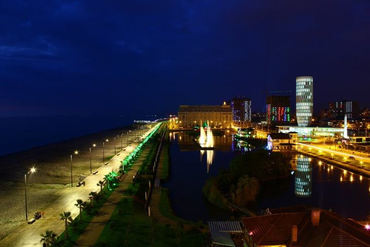 Batumi Boulevard at Night