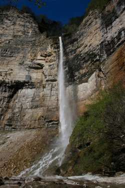 Kinchkha Waterfall in Imereti Region