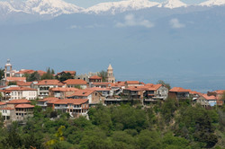 Sighnaghi Town of Love and Caucasus Mountains