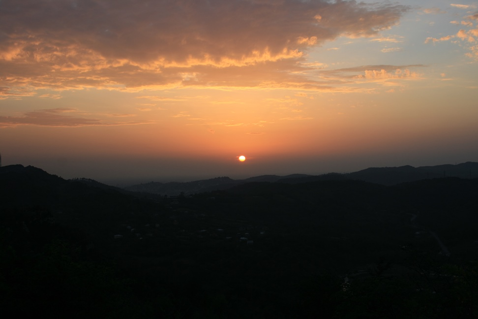 Sunset from Gelati monastery