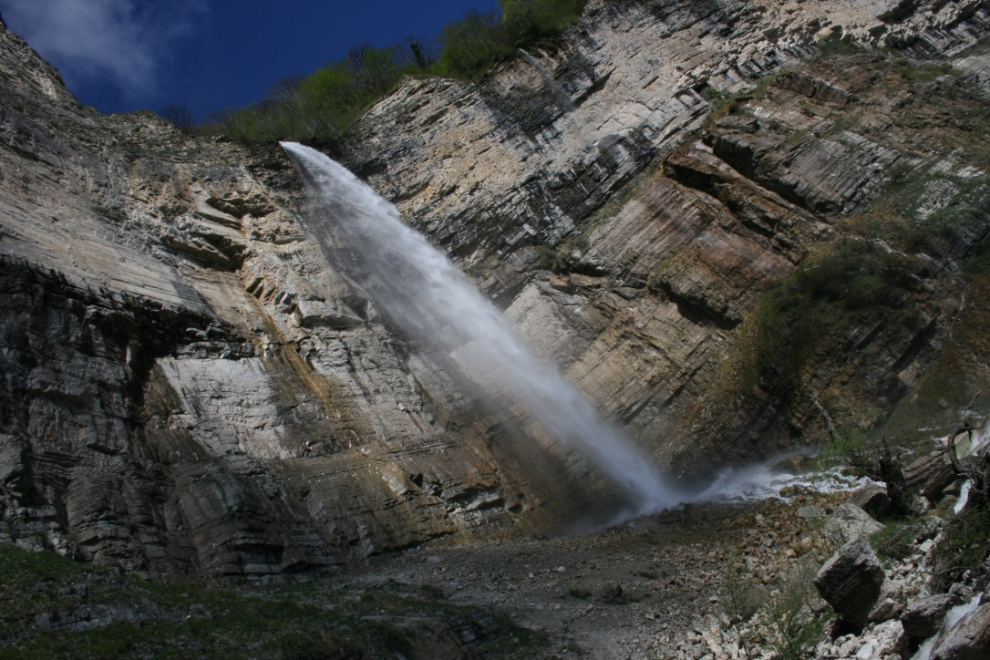 Kinchkha Waterfall near Okatse Canyon