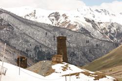 Tower in Ushguli Svaneti region