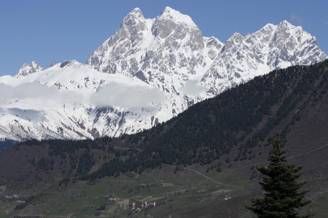 Ushba Glacier Svaneti Region