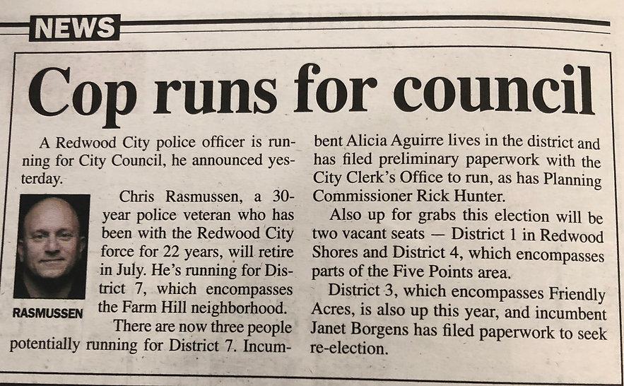 Cop Runs For Council
