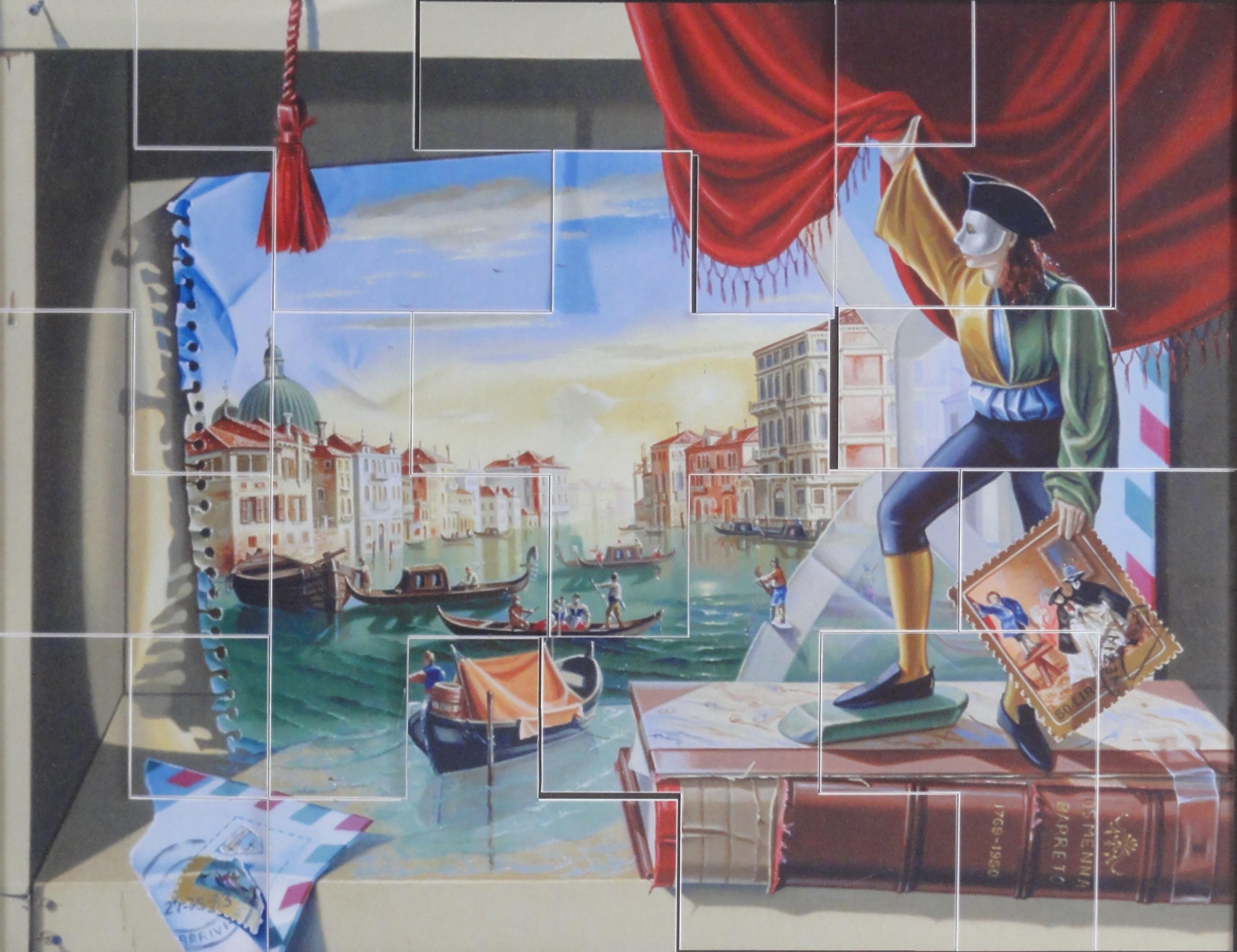 Quebra-cabeça-Carta Veneza -AR 1057