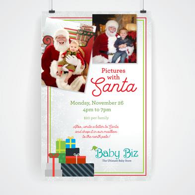 Santa event poster