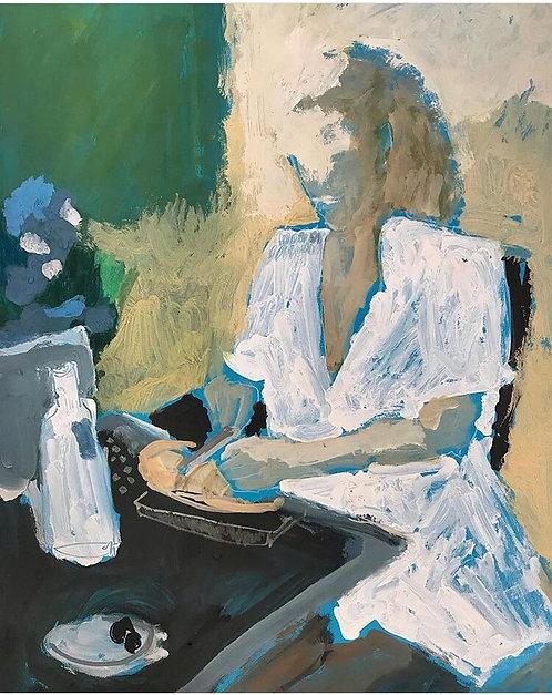 Exantres, Девушка в белом за столом