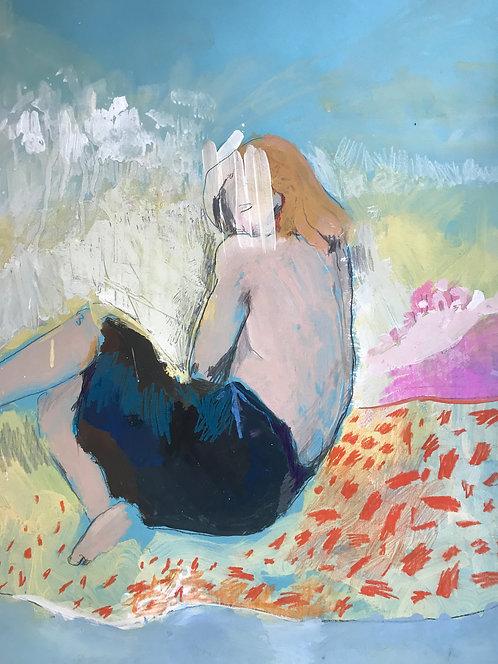 Exantres, Девушка на пестром ковре