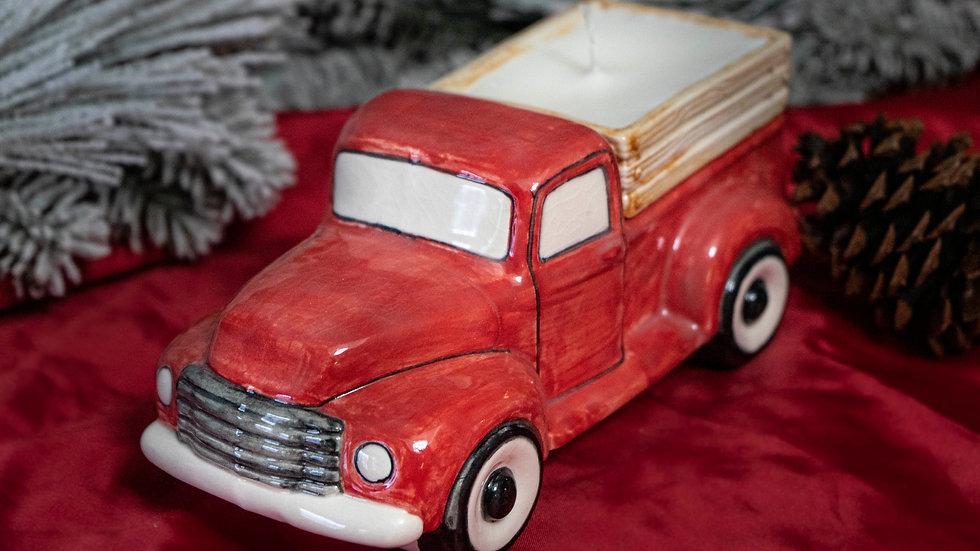 Vintage Red Truck Glazed