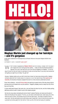 Marla in Hello Magazine