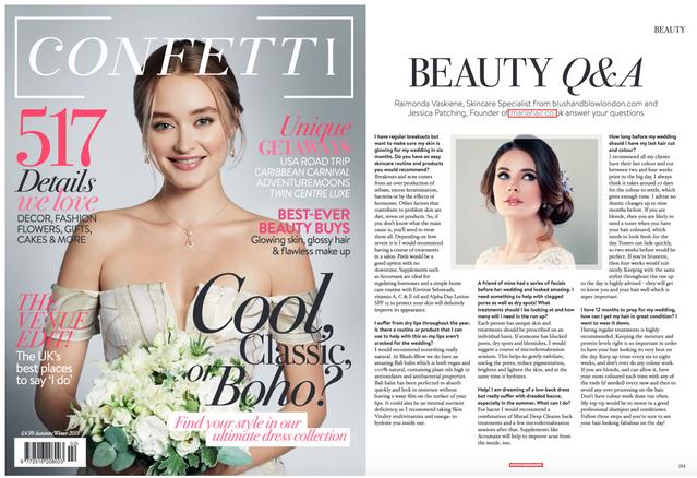 Marla in Confetti Magazine