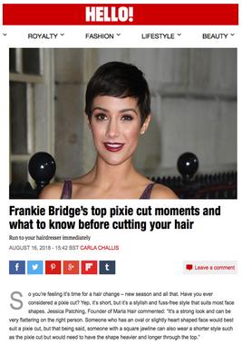 Marla Hair in Hello Magazine