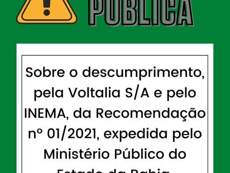 Carta Pública em defesa dos direitos das comunidades tradicionais de Canudos e do bioma da caatinga