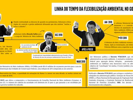 Linha do tempo destaca flexibilização ambiental no Governo Bolsonaro