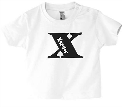 Hoofdletter naam - T-shirt of rompertje