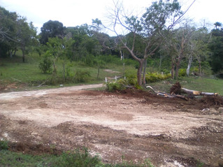 Construction of the first model home has begun........