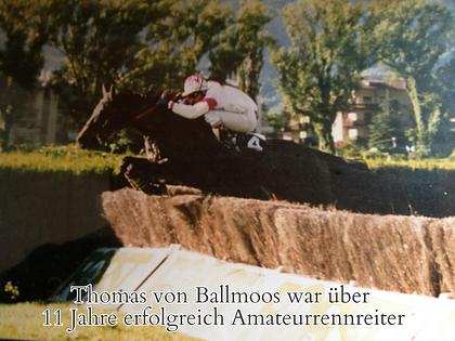 Thomas von Ballmoos war Amateurrennreiter