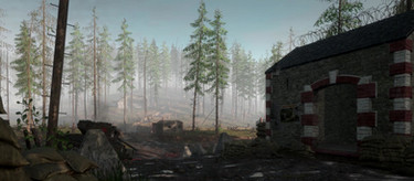 Free, royalty-free in-game video loops for animated backgrounds from Hurtgen Forest (Hürtgen) on Hell Let Loose (optimized for the Web)