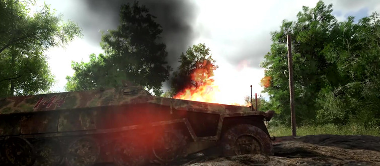 Free In-game video loops from Carentan on Hell Let Loose (optimized for the Web)
