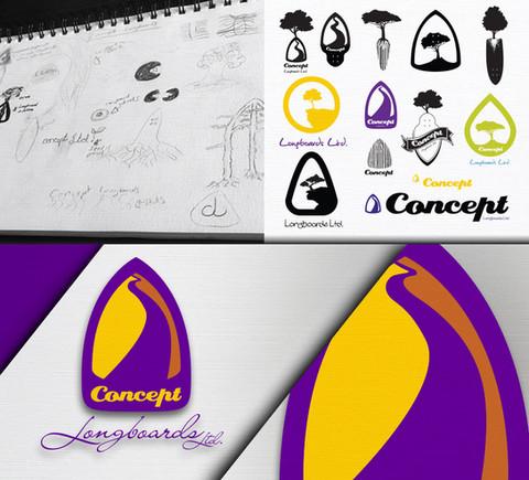 Concept Longboards Logo Design