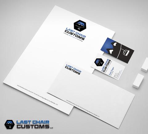 Last Chair Customs Stationery Design