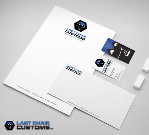 Last Chair Customs Stationery Design