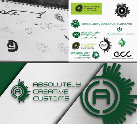 AC Customs Logo Design
