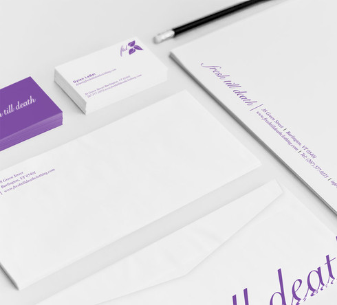 Fresh Till Death Stationery Design