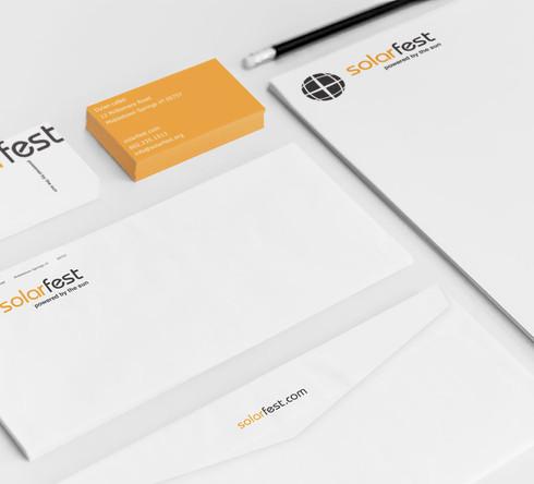 SolarFest Stationery Design