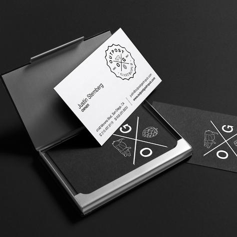 Outpost Gastropub Print Design