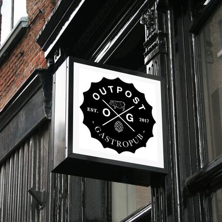Outpost Gastropub Logo Design