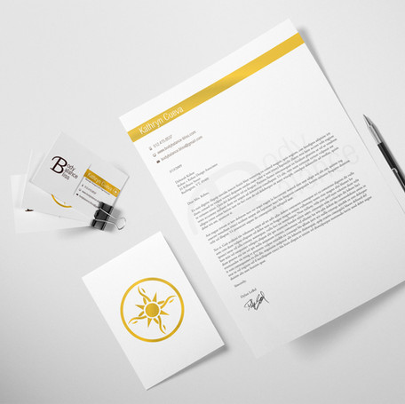 Body Balance Bliss Stationery Design