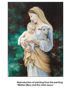 Mother Mary and the child Jesus