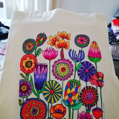 Bolsa grande N°1 pintada por clienta