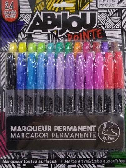 Set de 24 marcadores permanentes Abijou