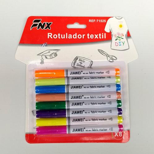 Marcadores permanentes 8 colores punta media