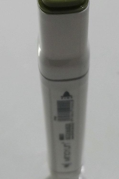 Marcador permanente doble punta color verde musgo 42