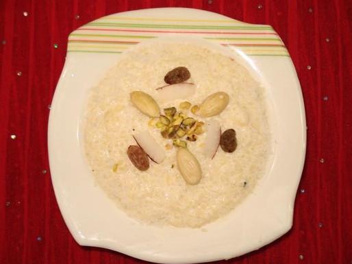 चावल की खीर रेसिपी हिंदी में सीखे  | चावल की  खीर  रेसिपी -The Food Feed