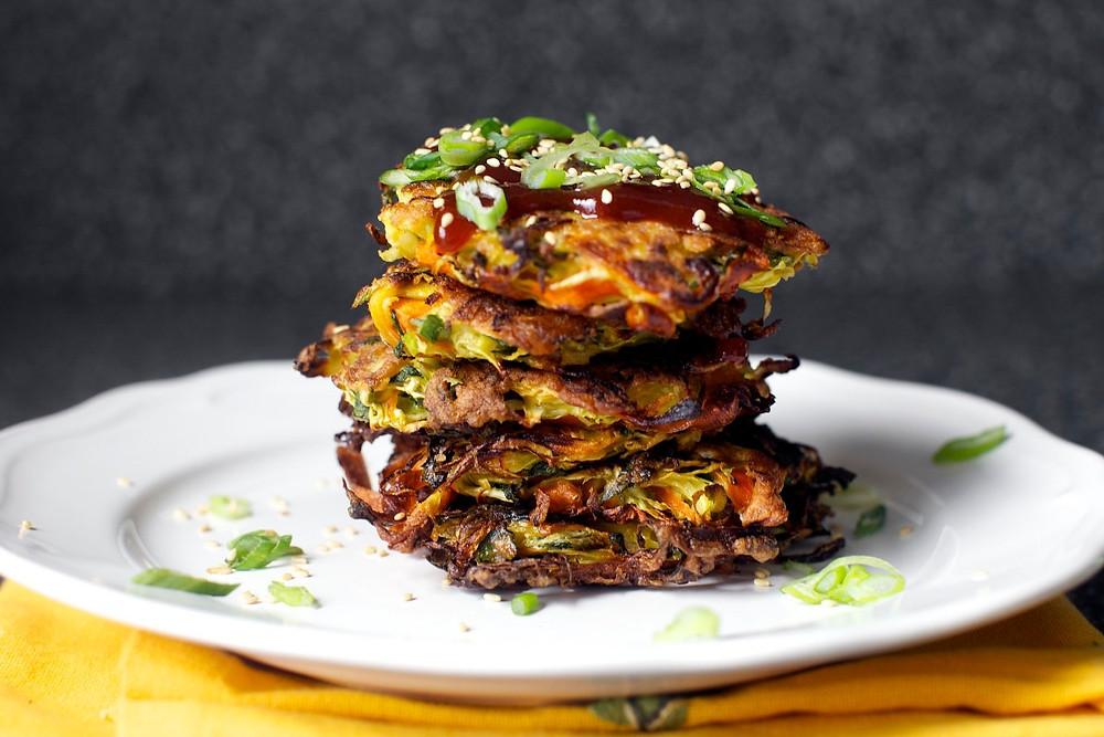 Sabjiyo wala pancake-चावल और सब्जियों का पैनकेक | Thefoodfeed