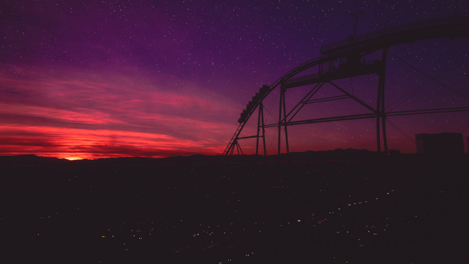 Rollercoster Sunset