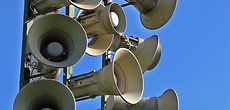 We install large public address systems nationwide.
