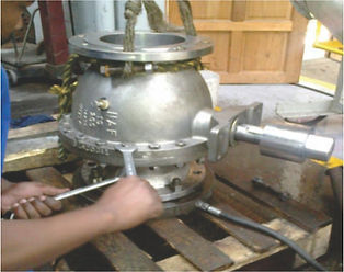 DN200 valve reconditioned and pressure t