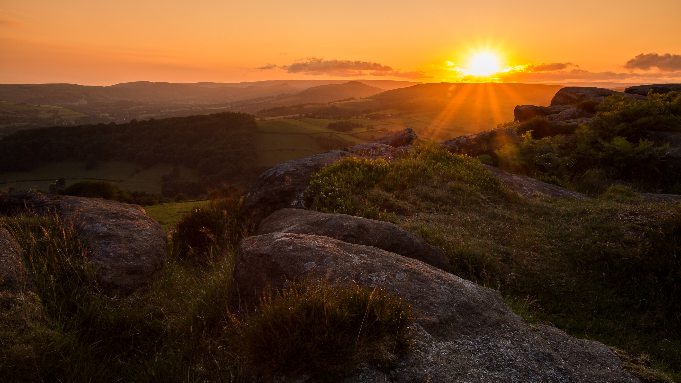 Sunset over the Peak District uk