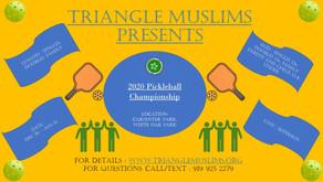 Triangle Muslims 2020 Pickleball Championship