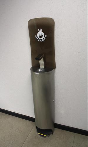 Dispensador de gel.