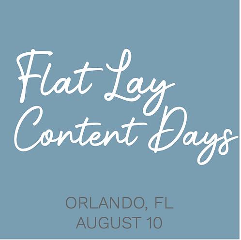 FLAT LAY CONTENT DAYS - Orlando, FL