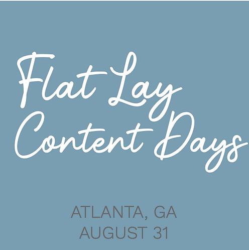 FLAT LAY CONTENT DAYS - Atlanta, GA