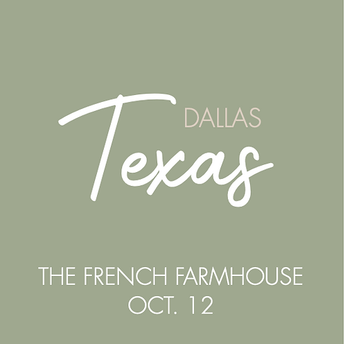 The French Farmhouse | Oct. 12